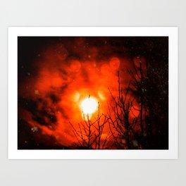 Burning Moon Art Print