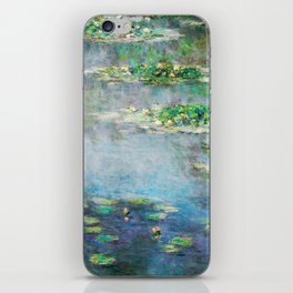 1906 Waterlily on Canvas.  Claude Monet . Vintage fine art. iPhone Skin