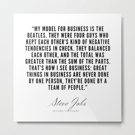 20      Steve Jobs Quotes   190720 Metal Print
