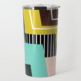 Color Block Travel Mug