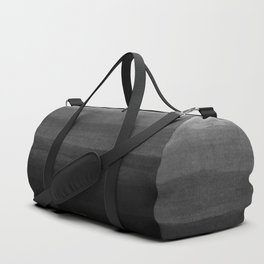 Black and Gold grunge stripes on modern grey concrete abstract background - Stripe -Striped Duffle Bag