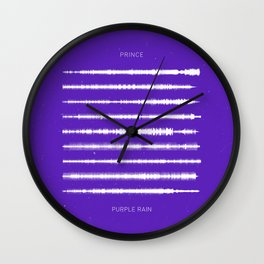 Purple Rain Waveform Wall Clock