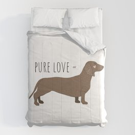 Cute Pure Love Dachshund Comforters