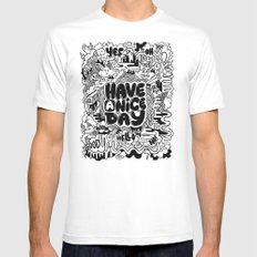 HAVE A NICE DAY MEDIUM White Mens Fitted Tee