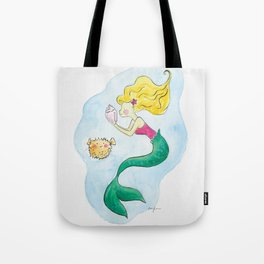 Mermaid under the sea Tote Bag