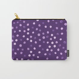 Purple-polka Carry-All Pouch