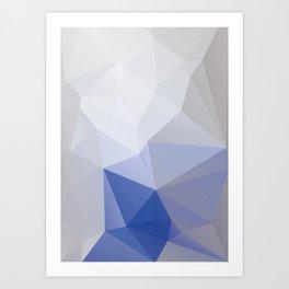 Bluemountain– modern polygram illustration Art Print