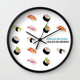 + Roles de Sushi - Roles de Género Wall Clock