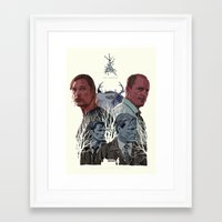 true detective Framed Art Prints featuring True Detective by TidyDesigns