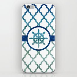 Ship Helm: Tropical Water Moroccan Pattern iPhone Skin