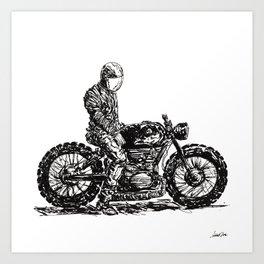 Rider 6 RAW Art Print