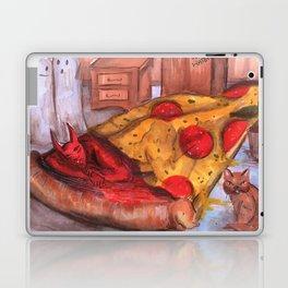 devil in pizza Laptop & iPad Skin