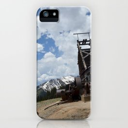 At the Longfellow Mine, elevation 11,080 feet, No. 1 of 13 iPhone Case