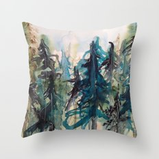 Blue Spruce Throw Pillow