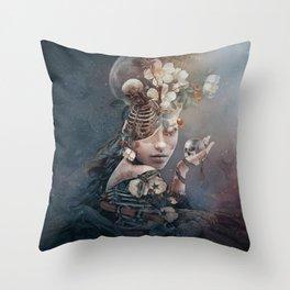 Moonlight beauty Throw Pillow