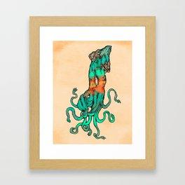 Jade Squid Framed Art Print