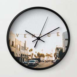 venice / los angeles, california Wall Clock