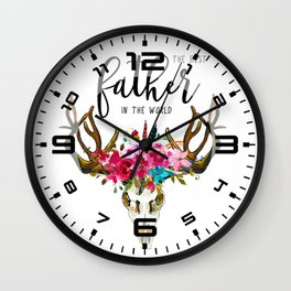 Best father #3 in the world   Father's day Wall Clock