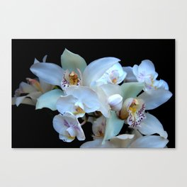 A White Orchid Wedding Canvas Print
