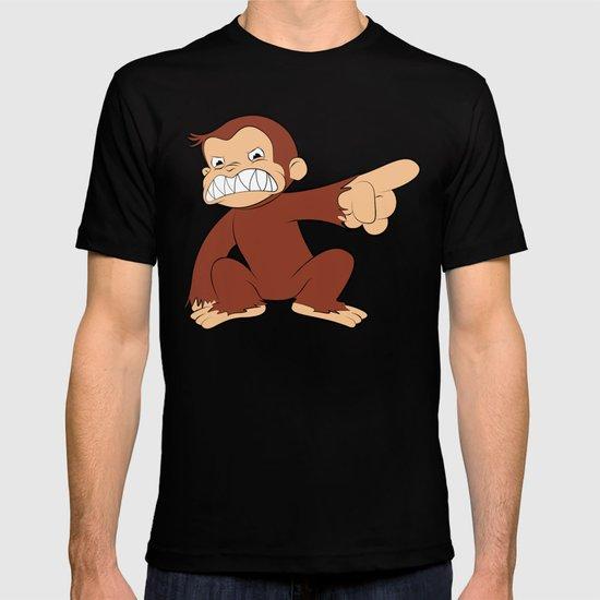 Furious George Funny Monkey Cartoon Animal T-shirt