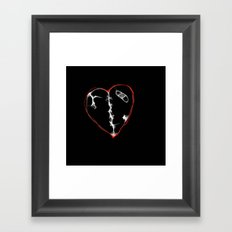broken Framed Art Print
