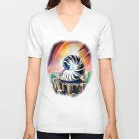 shell V-neck T-shirts featuring Shell by Naushad Arts