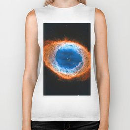 Ring Nebula, Messier 57 Biker Tank