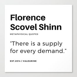 29   | Florence Scovel Shinn Quotes | 200126 Canvas Print