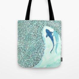 Tiger Shark Hunting Tote Bag