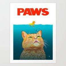 Paws! Art Print