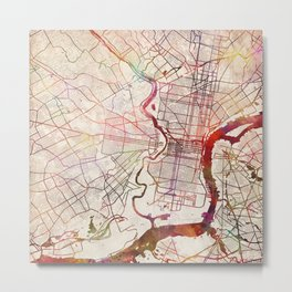 Philadelphia map Metal Print