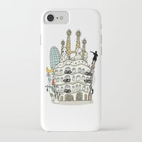 barcelona iPhone & iPod Cases featuring Barcelona by Jaume Tenes