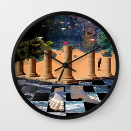 The Elemental Tourist - Water Wall Clock