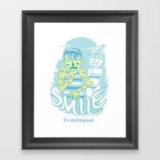 Smile It's contagious :D Framed Art Print