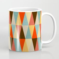Red & Brown Geometric Triangle Pattern Mug