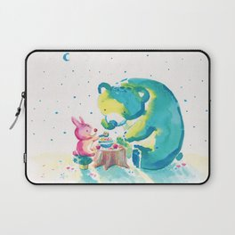 Bear with Rabbit - My Beary Berries Friend Laptop Sleeve