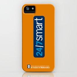 24/7 SMART on orange iPhone Case