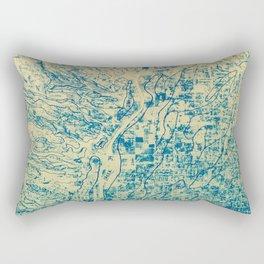 Rillito Creek Topo Rectangular Pillow