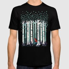 The Birches MEDIUM Mens Fitted Tee Black