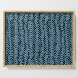 Hand Knit Niagra Blue Serving Tray