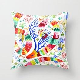 Dragon Deer Throw Pillow