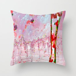Abstraction of relief Throw Pillow