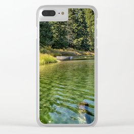 Jewel Like Tones of Clear Lake Clear iPhone Case