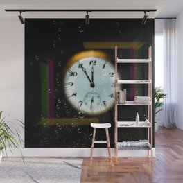 Time passes like soap bubbles Wall Mural