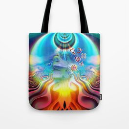 6 Language of Light Base Chakra Symbols Tote Bag