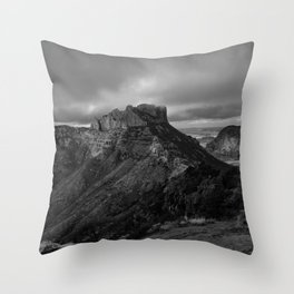 Top of Lost Mine Trail Mountaintop View, Big Bend - Landscape Photography Throw Pillow