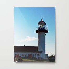 Lighthouse Cap de Madelaine Metal Print