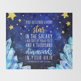 Star and Diamonds Throw Blanket