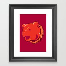 Bear prize Framed Art Print