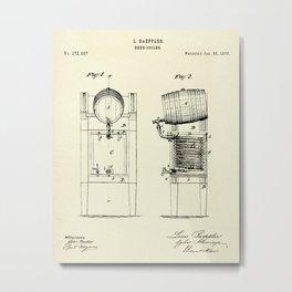 Beer Cooler-1876 Metal Print